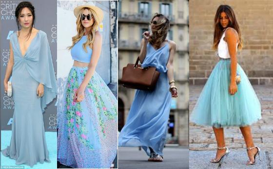 vestidos azul serenity