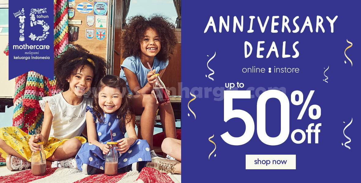 Promo Mothercare 15th Anniversary Deals Disc Up To 50% Off*