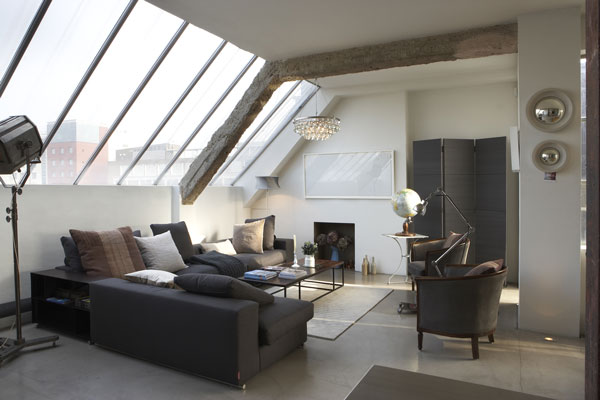 wunderkammer inspiration ein industrie loft in london. Black Bedroom Furniture Sets. Home Design Ideas