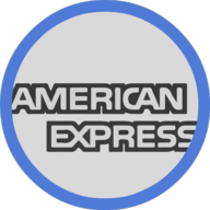 american express button outline