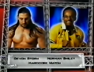WWA The Inception 2001 - Devon Storm vs. Norman Smiley in a hardcore match