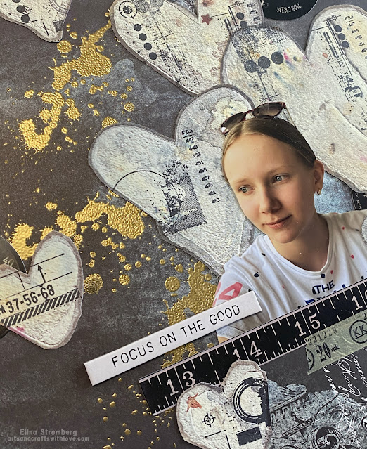 Scrapbooking layout with AB Studio papers