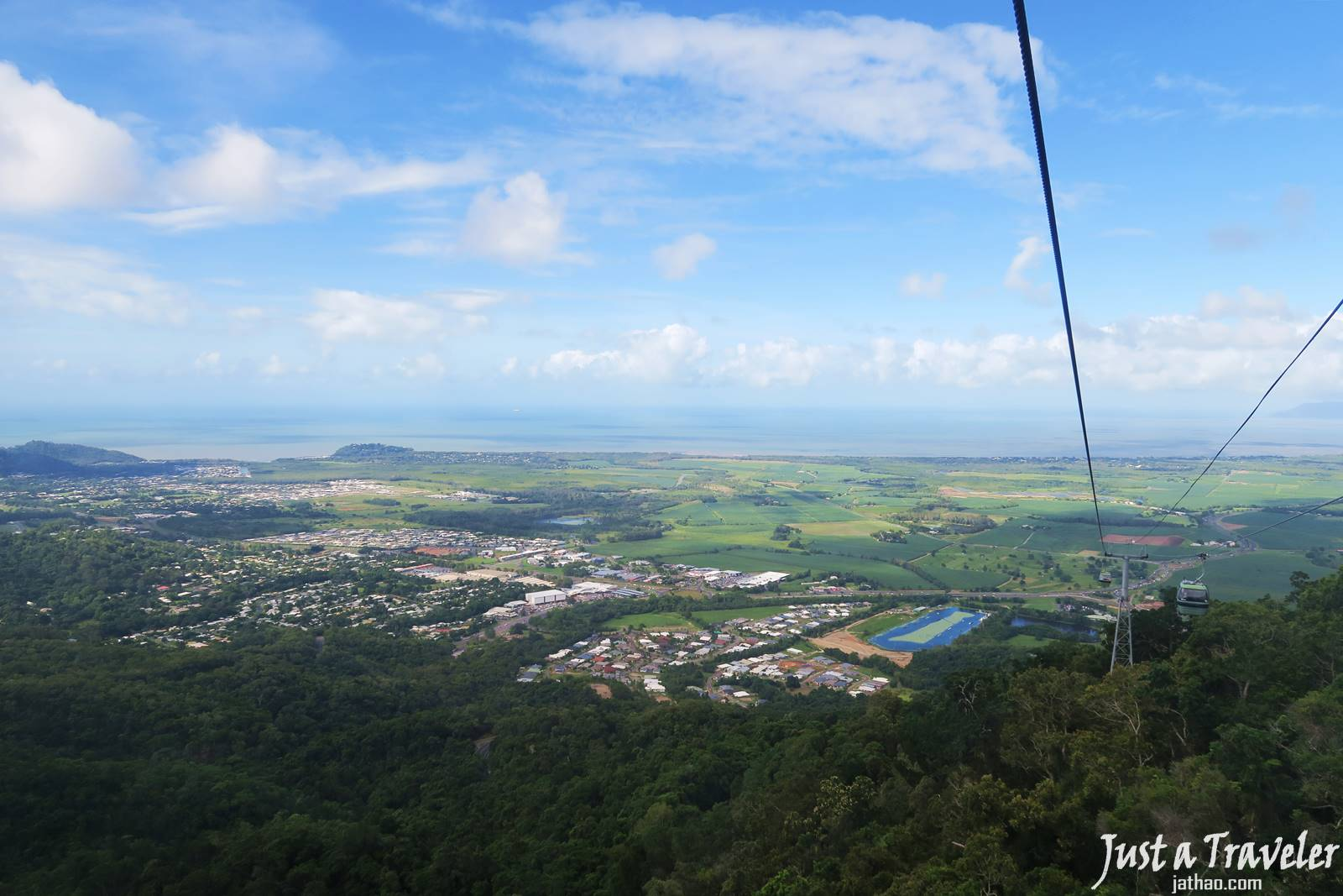 凱恩斯-庫蘭達-交通-觀光纜車-大堡礁-自由行-旅遊-澳洲-Cairns-Kuranda-Skyrail-Rainforest-Cableway-Travel-Tourist-Attraction-Australia