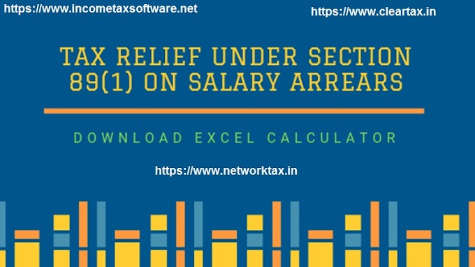 Download Automated Excel Based Income Tax Arrears Relief Calculator with Form 10E from the F.Y. 2000-01 to F.Y.2020-21
