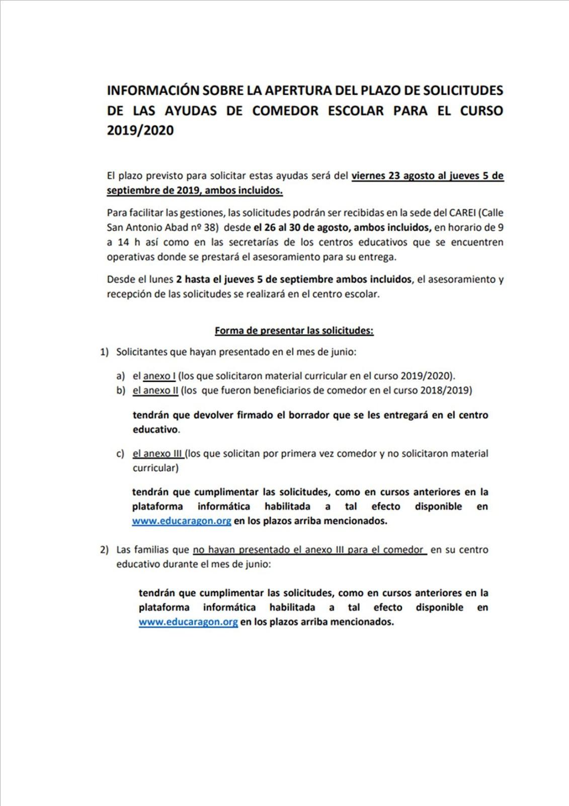 Educaragon Calendario Escolar 2020.C E I P Candido Domingo Zaragoza