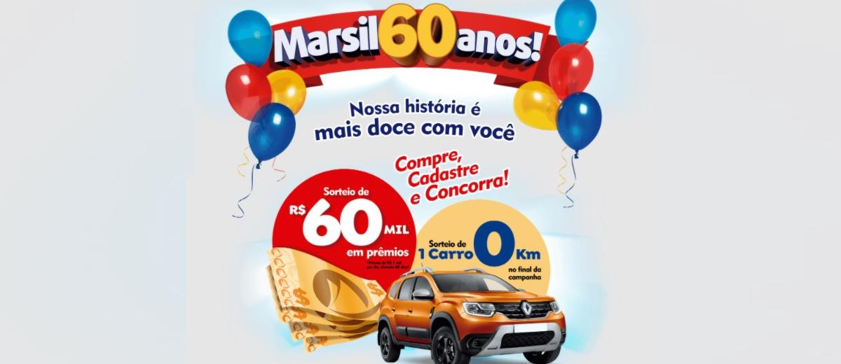 Promoção 60 Anos Marsil Doces Aniversário 2021 - Prêmio Todo Dia e Carro