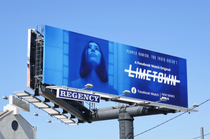 Limetown Facebook Watch series billboard