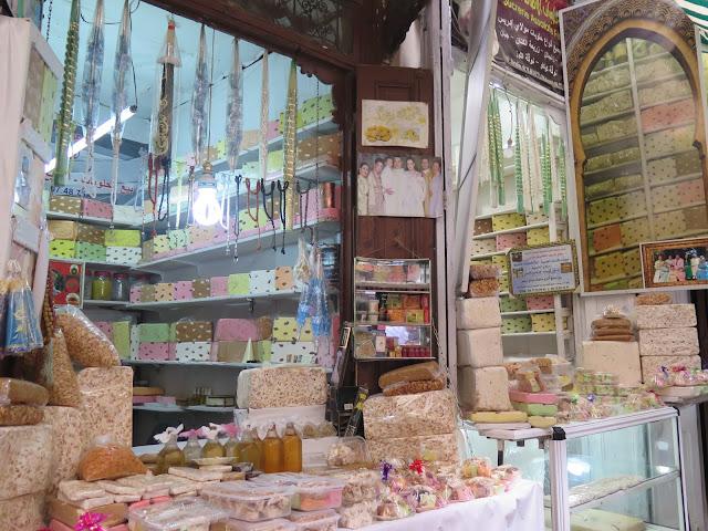 Caramelos de frutos secos en Fez el Bali