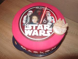 Star Wars Torte Mit Foto Aufleger Anke S Torten Wunsch