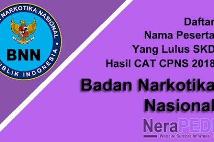 Inilah Daftar Nama Lulus SKD hasil CAT CPNS BNN 2018
