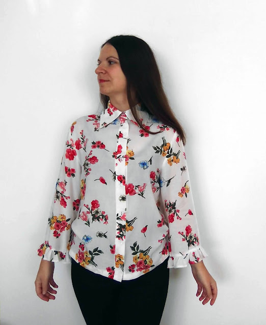 Wiskozowa koszula w kwiaty