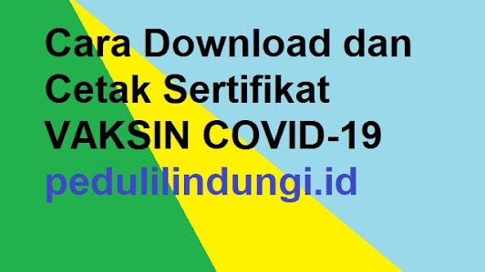 Cara Download dan Cetak Sertifikat Vaksin COVID 19 dari Pedulilindungi