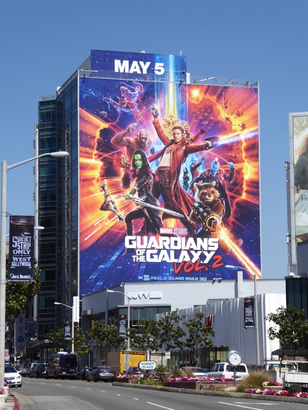 Giant Guardians of the Galaxy Vol 2 movie billboard