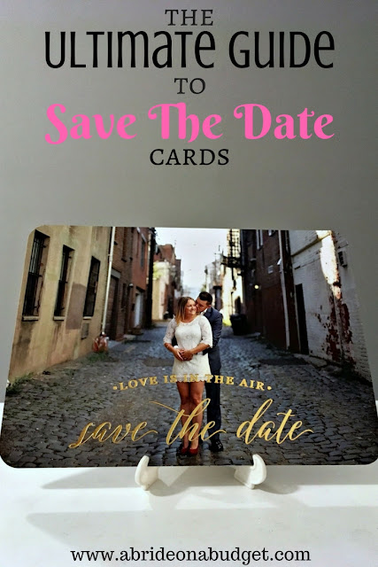 All your wedding save the date questions are answered in this The Ultimate Guide To Save The Date Cards post from www.abrideonabudget.com. It's a MUST READ for all engaged couples.