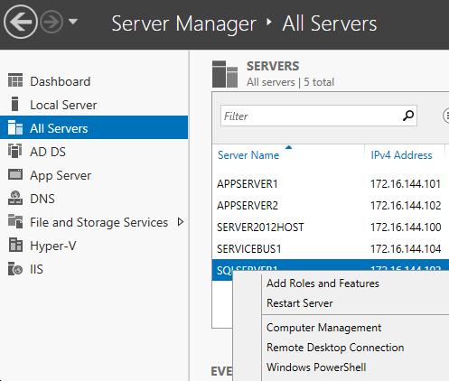 Enabling Remote Management for a Windows Server 2012 Core Hyper-V