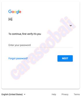 Cara ganti password gmail karena lupa