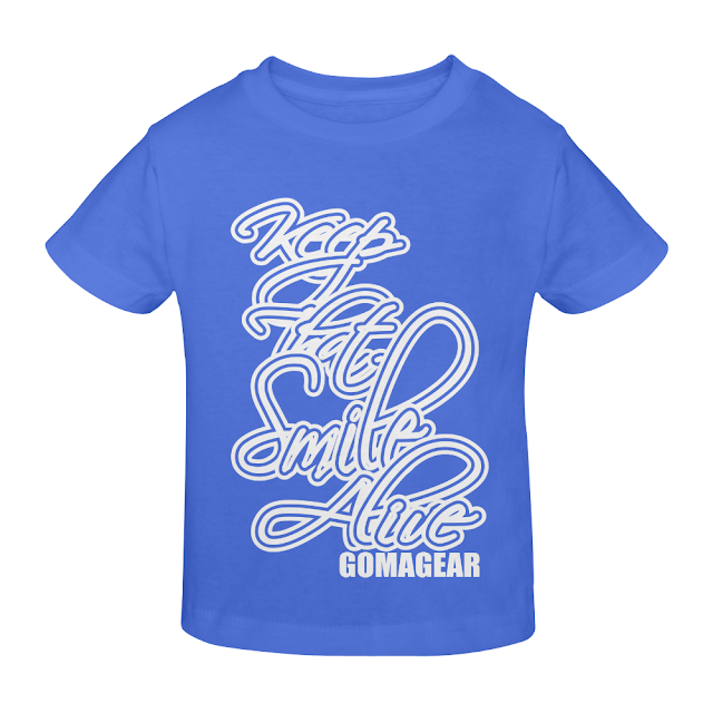 GOMAGEAR KTSA KEEP THAT SMILE ALIVE YOUTH T-SHIRT - BLUE