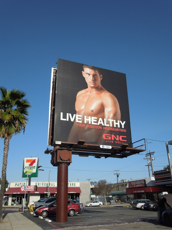 GNC Live Healthy billboard