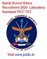 Sainik School Satara Recruitment 2020, Laboratory Assistant, PGT, TGT