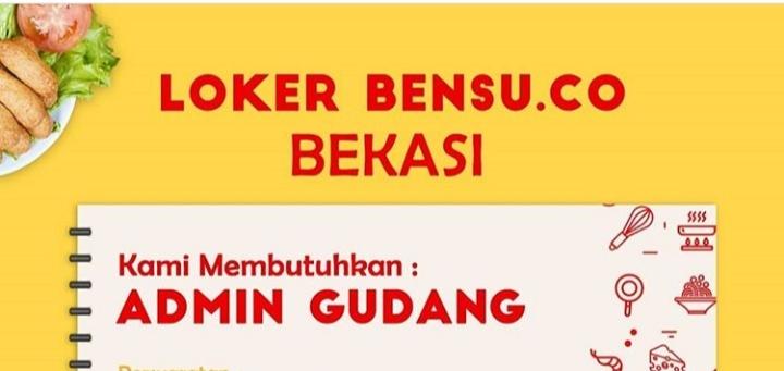 Lowongan Admin Gudang Di Bensu Co Bekasi Dibacaonline