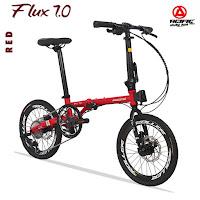 sepeda lipat pacific flux 7.0 folding bike