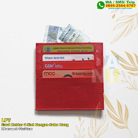 Card Holder 4 Slot Dengan Saku Uang