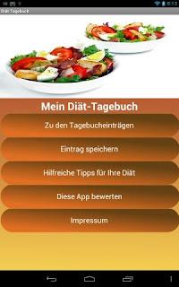 Diät-Tagebuch Android App