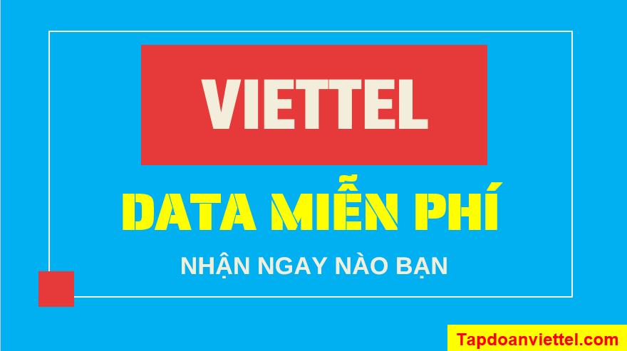 cách để nhận data miễn phí từ viettel