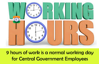Nine hours of work is a normal working day for central government employees