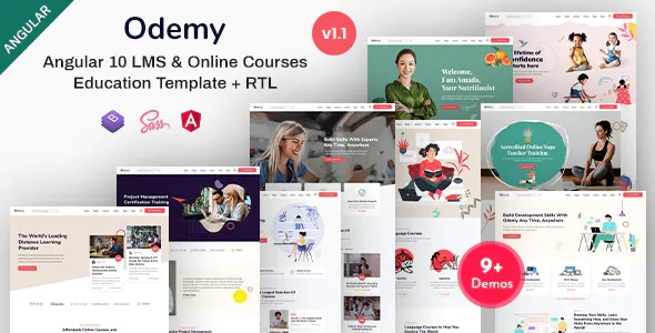 Best Online Courses & Education Template