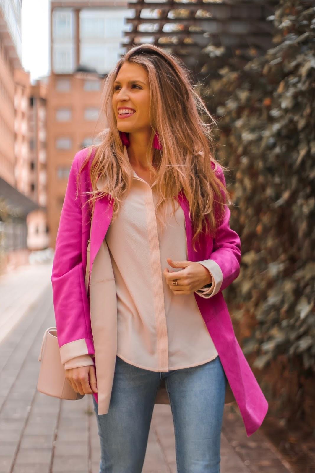 chaqueta dos colores
