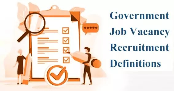 Government Job Definitions Dictionary