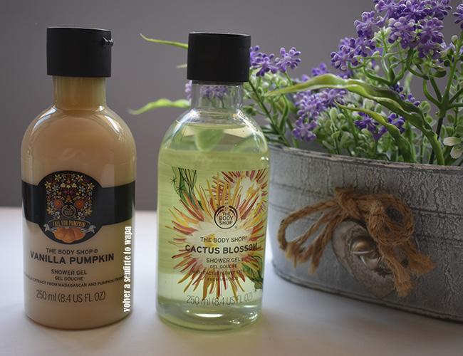Shower Gel de Vanilla Pumpkin y Cactus Blossom de The Body Shop