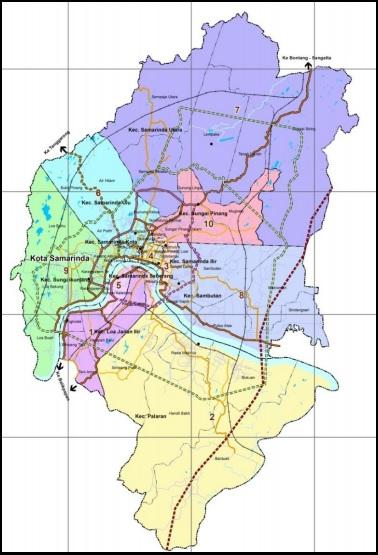 Peta Kota Samarinda Terbaru