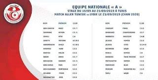 قائمة المنتخب التونسي للمحليين لمواجهة ليبيا في تصفيات الشان