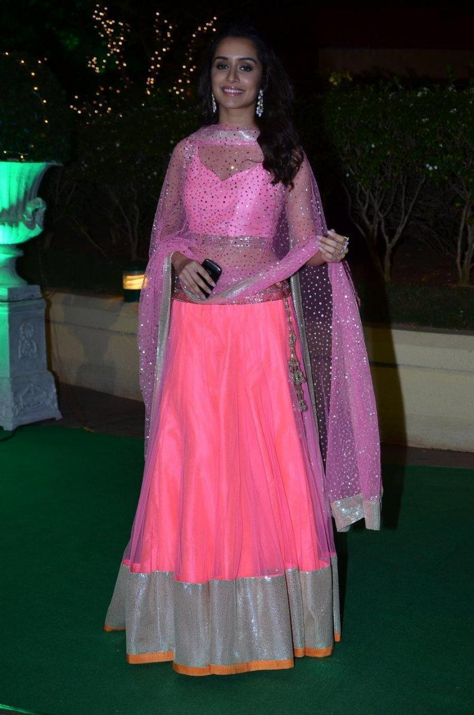Shraddha Kapoor Smiling Photos In Pink Dress