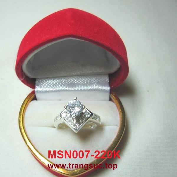 TrangSuc.top - Nhẫn cấp đính đá trắng cao cấp MSN007 - 220.000 VNĐ Liên hệ: 0906 846366(Mr.Giang)