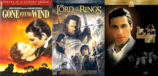 Gone with the Wind; Lord of the Rings: Return of the King; Godfather Part II