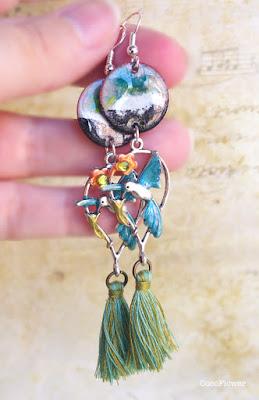 Boucle d oreille été - http://www.cocoflower-shop.com