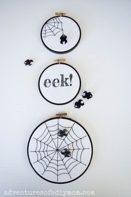 spider web embroidery with free pattern