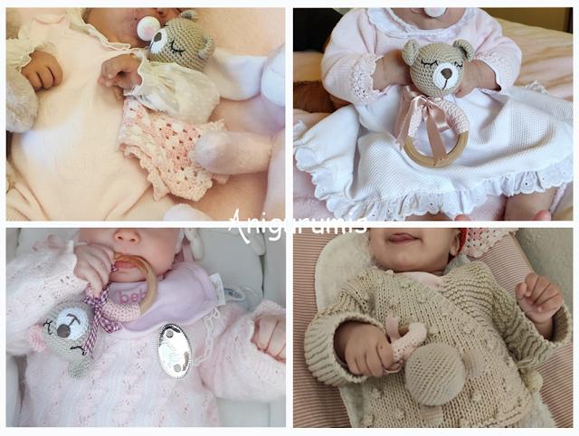 Bebés con su amigurumi By anigurumis