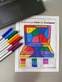 Color by trackpad gestures
