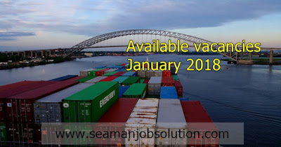 Seaman job vacancy 2018