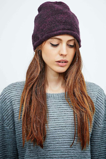 urban outfitters purple beanie