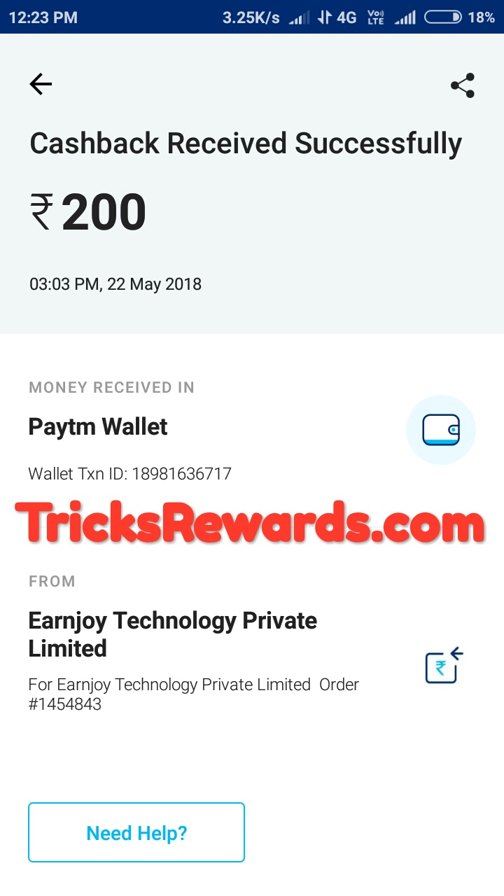 LOOT+PROOF] Injoy app : Sign up to get 50 ₹ free paytm cash