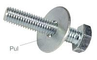 Bir cıvataya geçirilmiş metal pul