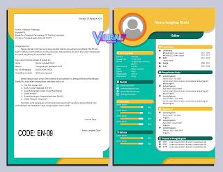 Contoh Desain CV Dan Job App Kreatif EN-09