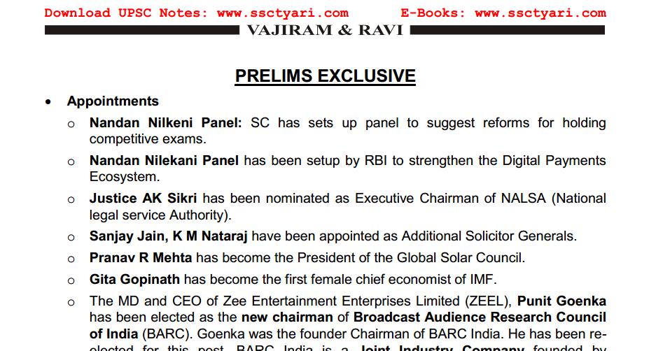 IAS Prelims Exclusive by Vajiram & Ravi   Insight Note - SscTyari