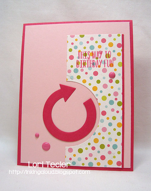 This Way to Birthday Fun-designed by Lori Tecler-Inking Aloud-stamps and dies from Avery Elle