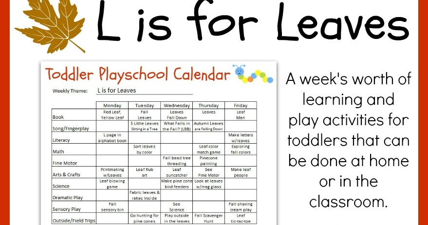 crayon freckles  toddler playschool  l is for leaves lesson plan  free printable
